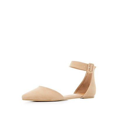 Bamboo Pointed Toe Two-Piece Flats