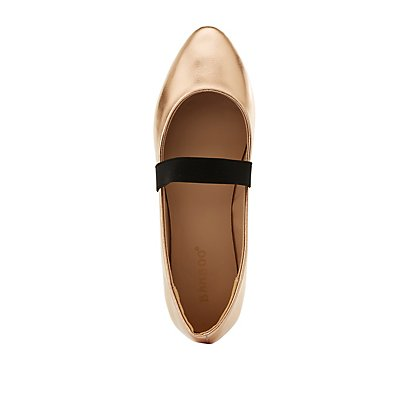 Bamboo Pointed Toe Banded Flats
