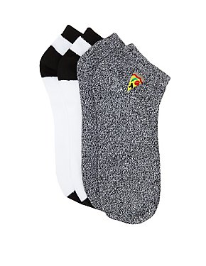 Pizza Patch Ankle Socks - 2 Pack