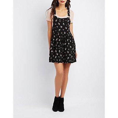 Paisley Printed Overall Dress