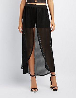 Mesh Layered Maxi Shorts