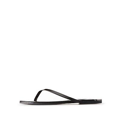 Metal-Trim Flip Flop Sandals