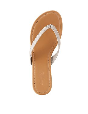 Suede Flip Flop Thong Sandals