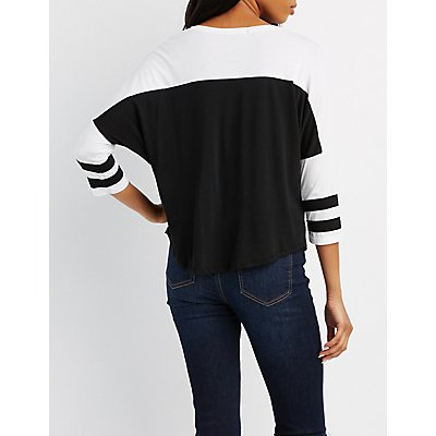 Varsity Stripe Football Tee