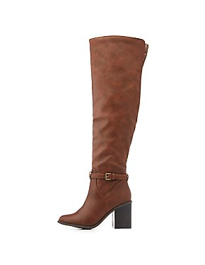 Almond Toe Riding Boots