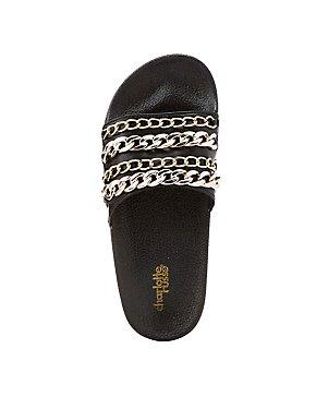 Chainlink Slide Sandals