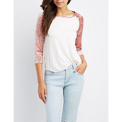Velvet Raglan T-Shirt
