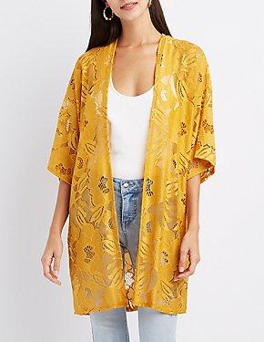 Floral Lace Kimono