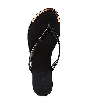 Gold-Tipped Flip Flop Sandals