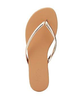 Textured Flip Flop Thong Sandals