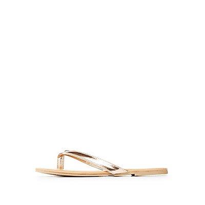 Metallic Flip Flop Sandals