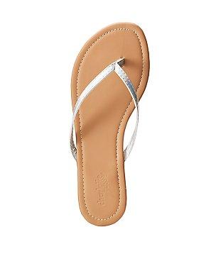 Holographic Flip Flop Thong Sandals