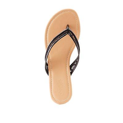 Lace Flip Flop Thong Sandals