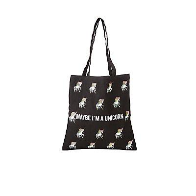 Maybe I'm a Unicorn Canvas Tote Bag