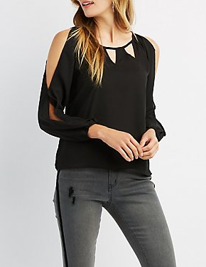 Chiffon Cut-Out Top