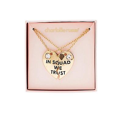 In Squad We Trust Pendant Necklaces - 2 Pack
