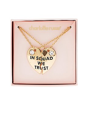 In Squad We Trust Pendant Necklaces - 2 Pack