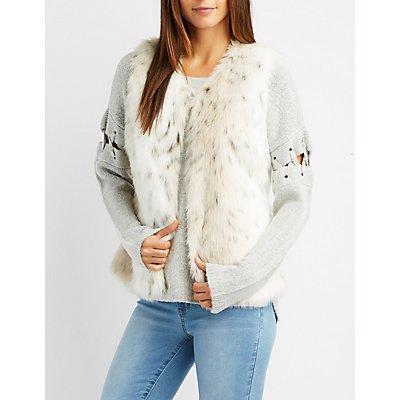 Leopard Print Faux Fur Vest