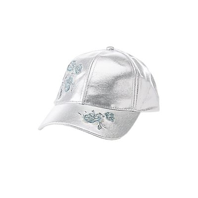 Floral Metallic Baseball Hat
