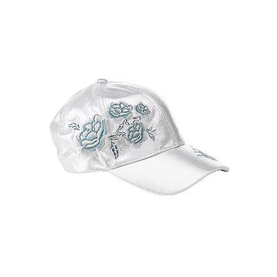 Floral Metallic Baseball Hat