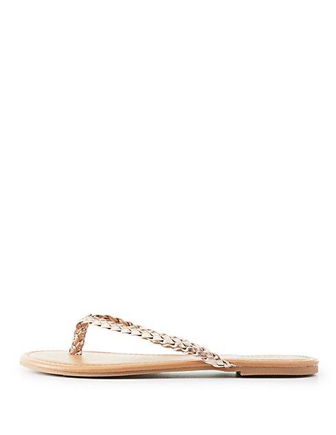 e9b9c15e8f87 ... Metallic Braided Flip Flop Sandals