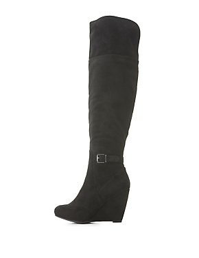 Wedge Heel Over-The-Knee Boots