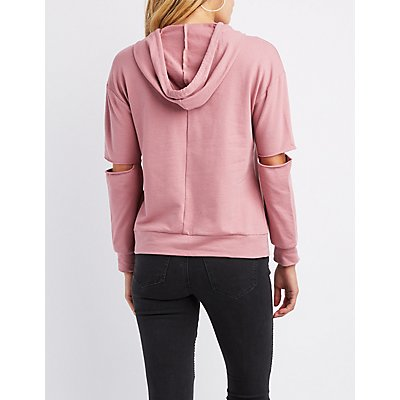 Cut-Out Elbow Hoodie