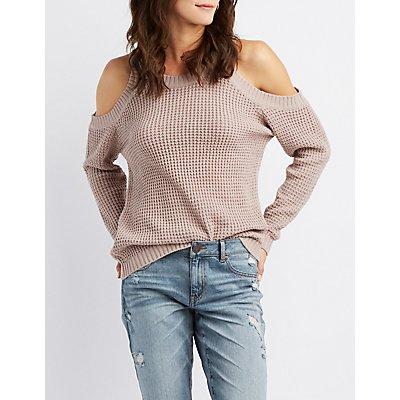 Cold Shoulder Pullover Sweater