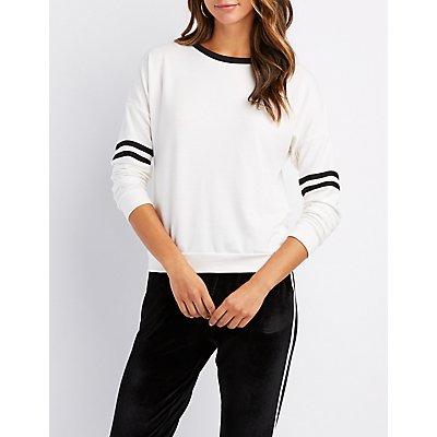 Varsity Stripe Ringer Sweatshirt