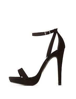 Wide Width Faux Nubuck Two-Piece Dress Sandals
