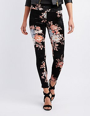 Floral Velvet Leggings