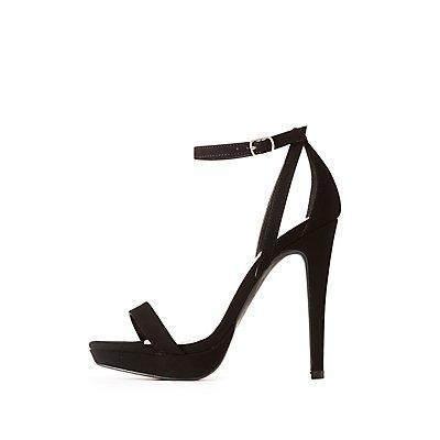 WIde Width Ankle Strap Dress Sandals