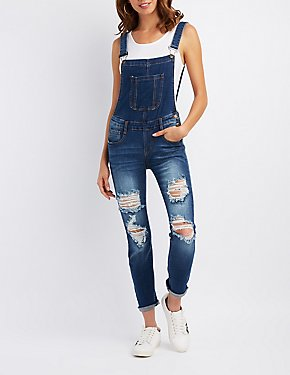 Machine Jeans Destroyed Overalls