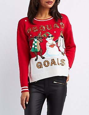 #SquadGoals Christmas Sweater