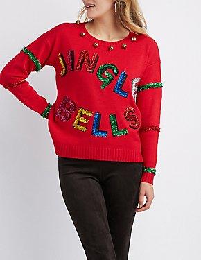 Jingle Belle Tinsel Sweater
