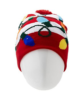 Holiday Light-Up Beanie