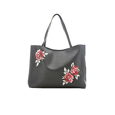 Floral Patch Tote Bag
