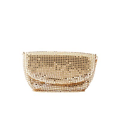 Metallic Chainmail Convertible Clutch