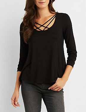 Strappy Caged Boyfriend Top