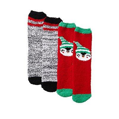 Holiday Penguin Cozy Socks - 2 Pack