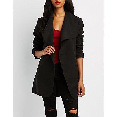 Wide Collar Belted Jacket