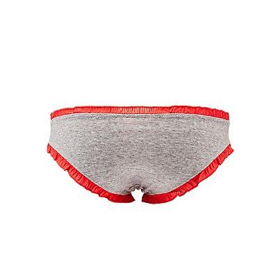 Ruffle-Trim Cheeky Panties
