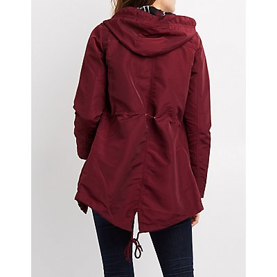 Coated Anorak Hooded Jacket