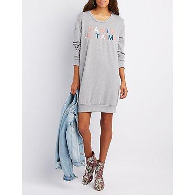 Pairs Je T'aime Sweatshirt Dress