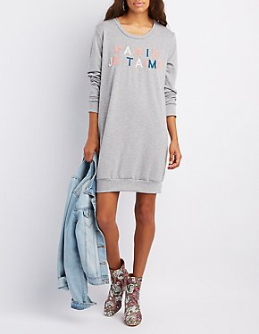 Pairs Je T'aime Sweatshirt Dress