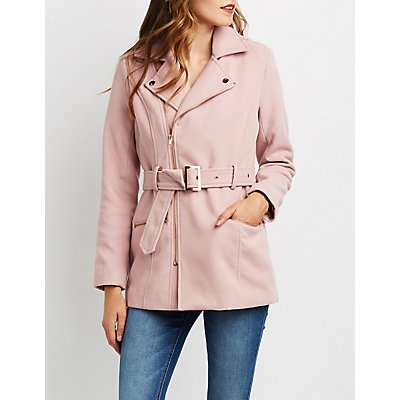 Longline Wool-Blend Trench Coat