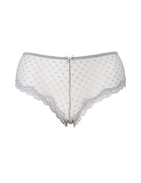 Plus Size Caged-Back Cheeky Panties