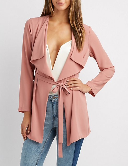 trench lightweight coat grey missguided drapes draped