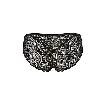Plus Size Lace-Back Hipster Panties