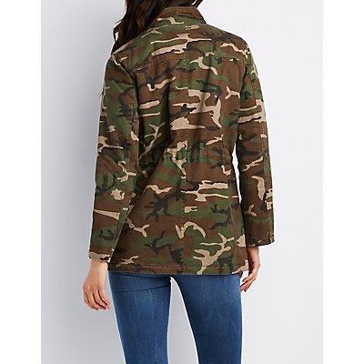 Camo Print Anorak Jacket